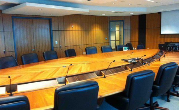 Sala de juntas de dirección en HP México